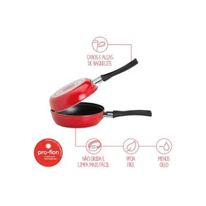 Omeleteira Garlic Vermelho - 750ml