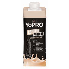Bebida Láctea Yopro Sabor Coco com Batata Doce 250ml
