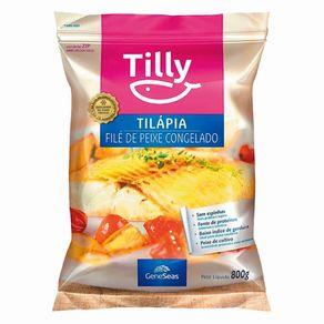 Filé Tilapia Sem Pele IQF Congelada Tilly 800g