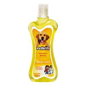 Shampoo Neutro Petbrilho 500ml Para Cães e Gatos
