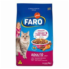 Alim.Gatos Faro 3kg Grelhado Carne/ Frango