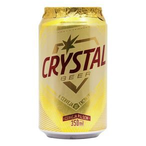 Cerveja Crystal Pilsen Lata 350ml
