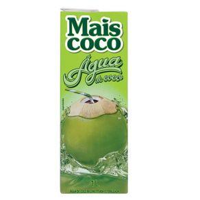 Água de Coco Reconstituída Esterilizada Mais Coco Caixa 1l