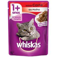 Racao-Umida-para-Gatos-Whiskas-Adulto-Carne-ao-Molho-Sache-85g