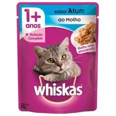 Racao-Umida-para-Gatos-Whiskas-Adulto-Atum-ao-Molho-Sache-85g