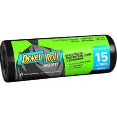 Saco-de-Lixo-Dover-Roll-15L-Com-40-Preto